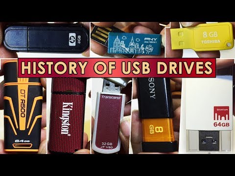 आपकी USB दिखी क्या? All models of History of USB Drives from Past 15 years from around the world