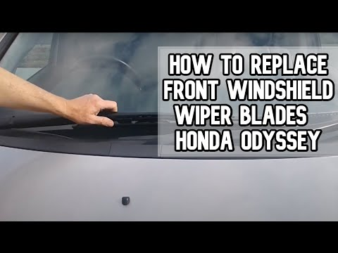 How to replace front windshield wiper blades | 2005-2014 Honda Odyssey DIY video | #diy #wiper