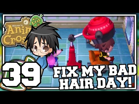 Animal Crossing: New Leaf - Part 39 - FIX MY BAD HAIR DAY! (Nintendo 3DS Playthrough)