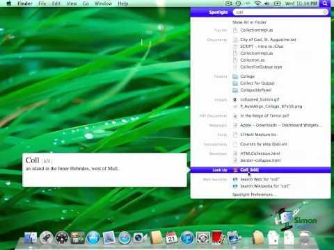Max OS X Lion Tutorial -- Using Spotlight