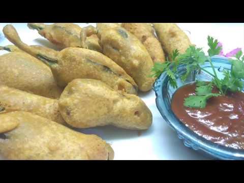 How to make mirch pakora recipe | mirchi ke bhajiya recipe | Mumbai street style mirch pakora |