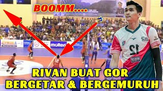2X Boom Spike RIVAN NURMULKI Buat GOR Bergetar & Bergemuruh | Samator VS Bank Jateng ( Doni, Fahry)