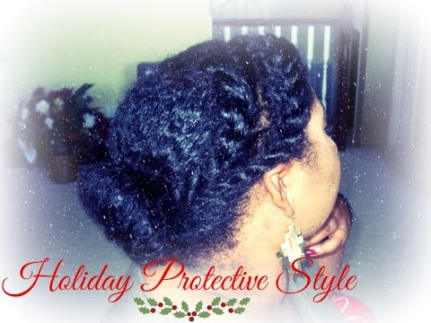 EASY Holiday Protective Hairstyle