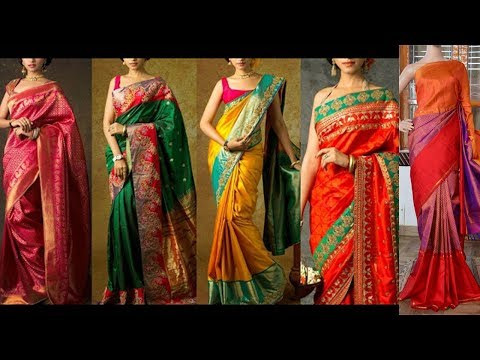 Latest Kanchipuram Pure Light Weight Pattu Saree Designs - She Fashion