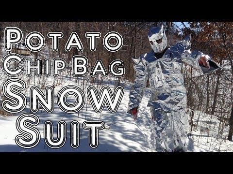 Potato Chip Bag SNOW SUIT with Cheetos & Doritos Gloves!