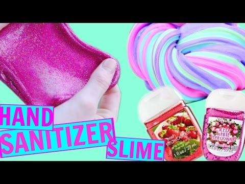HOW TO MAKE SLIME WITH HAND SANITIZER! 2 METHODS!