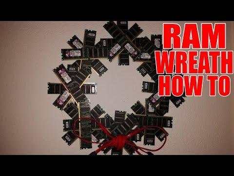 🎄 RAM Wreath DIY How To (Dr. NOOB's Lab)