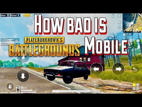 How Bad is PUBG MOBILE ?- Vehicle + Gunfight Gameplay