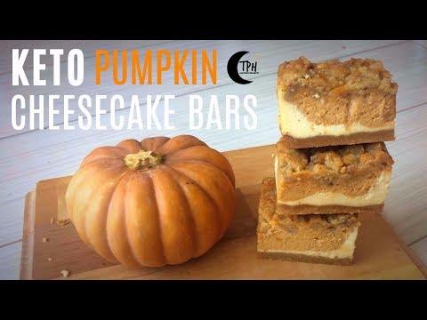 Keto Pumpkin Cheesecake Bars | Low-Carb Pumpkin Spice Dessert Recipe