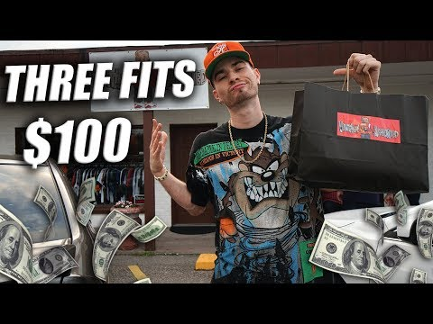 $1000 OUTFIT?! NAH 3 FOR $100! LESS IS MO! Vintage Thrift Fit Challenge!