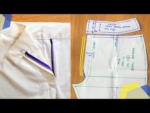 HOW TO: MAKE TROUSER WAISTBAND & FRONT ZIPPER FLY PATTERNS | KIM DAVE