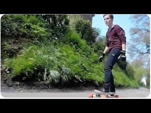Longboarding Downhill Gets Speed Wobbles | Skater Faceplant
