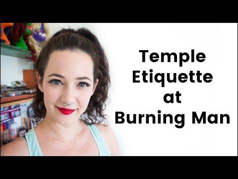 Temple Etiquette at Burning Man