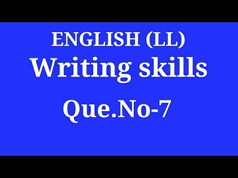 WRITING SKILLS Q. 7 by ENGLISH गुरू