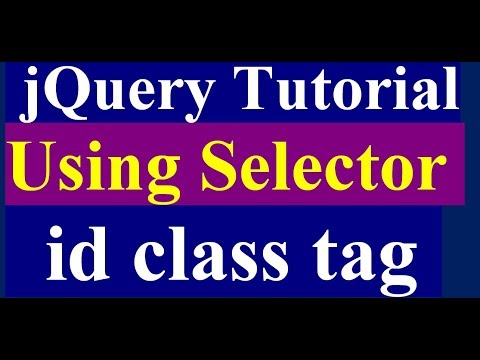 How to use selector in jquery - jquery tutorial