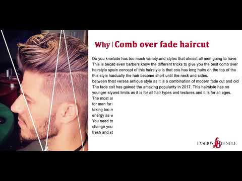 Comb Over Fade Hairstyles are trending in 2017