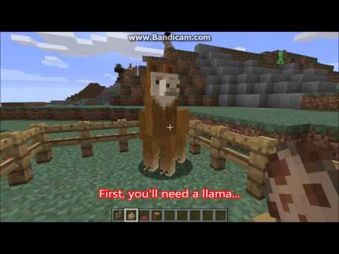 How to tame, ride, decorate, and add a chest to a llama | Minecraft 1.11 + tutorial