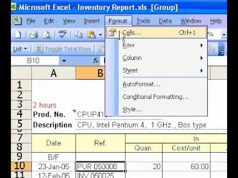 Microsoft Office Excel 2003 Display multiple lines of text within a cell