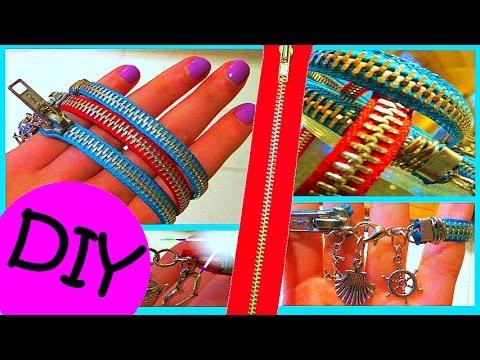 DIY Zipper Charm Bracelets
