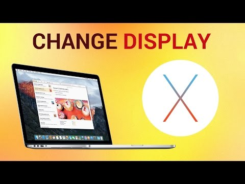 "How To Change the Display Using ""System Preferences"" on Mac"