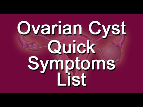 Ovarian Cyst Quick Symptoms List