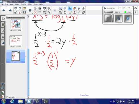 HA2T 7.4 Prac C #15 - find inverse of logarithmic function