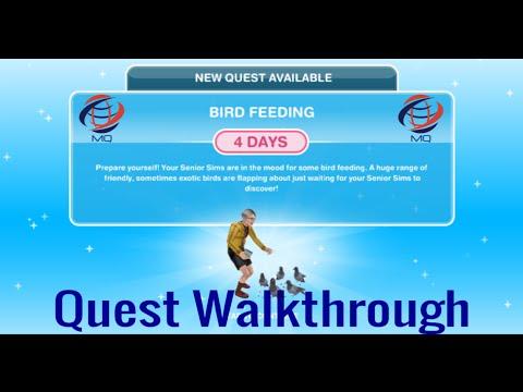 The Sims FreePlay - Bird Feeding Quest Walkthrough