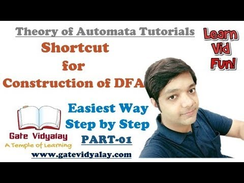 How to construct a DFA in Automata   Shortcut Easiest Way Step by Step   Part-01