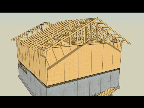 Drawing Lumber with SketchUp Series Part 8 How to Draw Roof Trusses