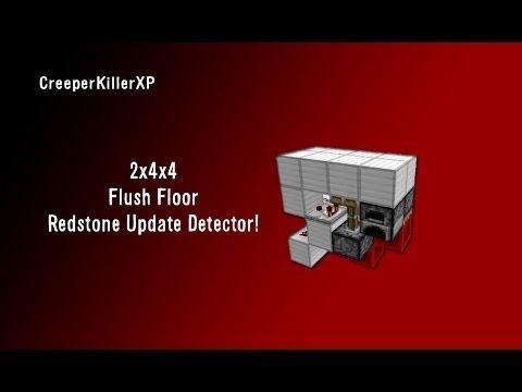 Redstone Tutorials: Flush Tiny Torch Key Floor