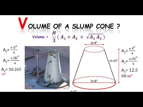 Quantity survey : how to find volume of a slump cone