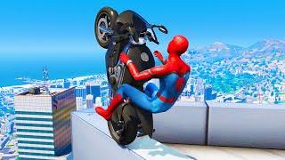 GTA 5 Spiderman Epic Jumps #10 ( Spider-Man Stunts & Fails )