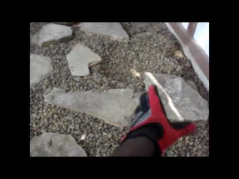 How to create a Flagstone Pathway (In a pea gravel garden)