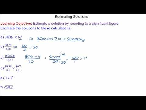 Estimating Solutions by Rounding to a Significant Figure