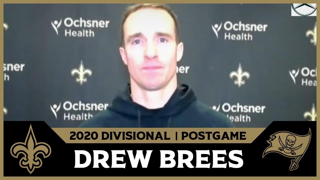 Drew Brees on Playoff Loss, Future | Saints-Bucs Postgame