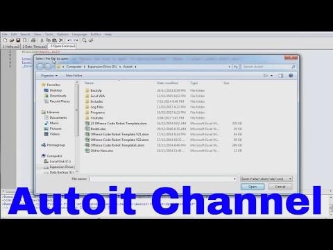 Autoit Tutorial - Open an Excel book
