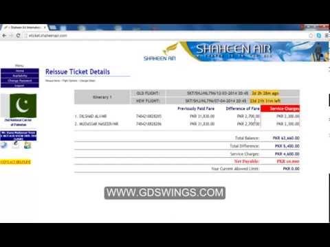 HOW TO REISSUE OR DATE EXCHANGE ON SHANEEN AIRLINE TICKETS TUTORIALS IN URDU PART 3