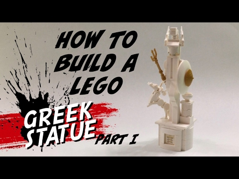LEGO MOC - How to Build a Greek or Roman Statue - Custom Monument - Part I