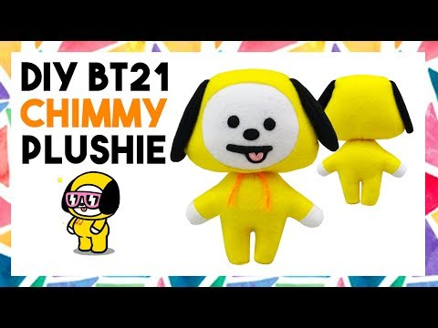 DIY BT21 CHIMMY PLUSHIE! (FREE TEMPLATE) [CREATIVE WEDNESDAY]