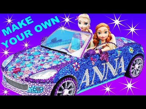 FROZEN ANNA CAR VIOLET CRUZE Makeover Make Your Own + Elsa Car Barbie Car