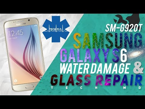 Samsung Galaxy S6 Water Damage and LCD Repair Tech MD