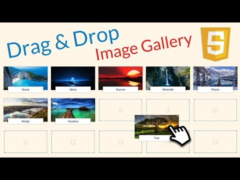 DRAG & DROP Image Gallery with JavaScript: Part 1!