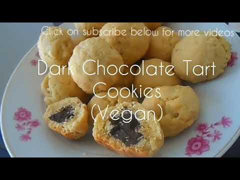 Dark Chocolate Tartelettes Cookies (Vegan)