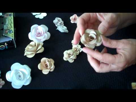 How To Make Paper Roses Using White Cardstock