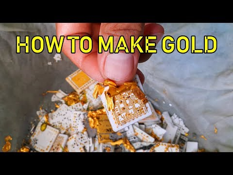 How to Make Gold from Electronic Chip Scrap Assembly Equipment. gold recovery