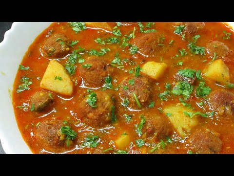 Chana Dal Kofta with Gravy Recipe - Bhagat Muthia Recipe in Hindi - Authentic Gujarati Dish