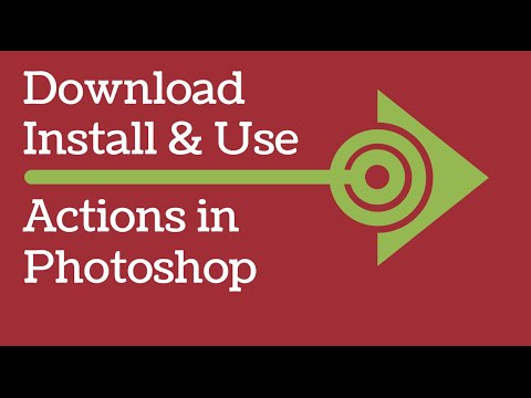 Photoshop Actions - How to download free actions, install and run them