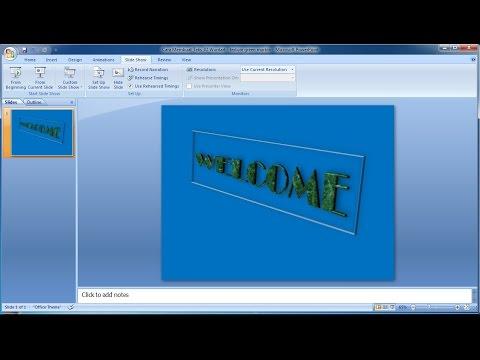 Tutorial powerpoint 2007 |Cara Membuat Teks 3D Green Marble Wordart in Powerpoint