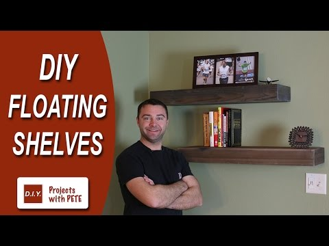How to Make Floating Shelves - DIY Wood Floating Shelves