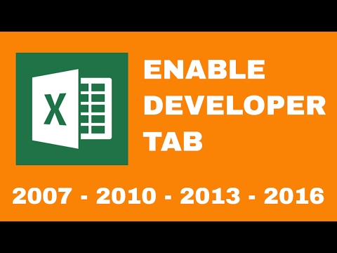 Excel Tips  ||  How To Add Developer Tab In Excel  ||  Microsoft Excel Developer